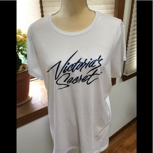 Victoria's Secret white short sleeved tee